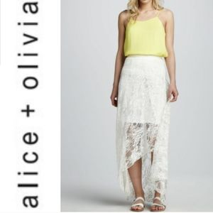 Alice and Olivia lace high low skirt 10